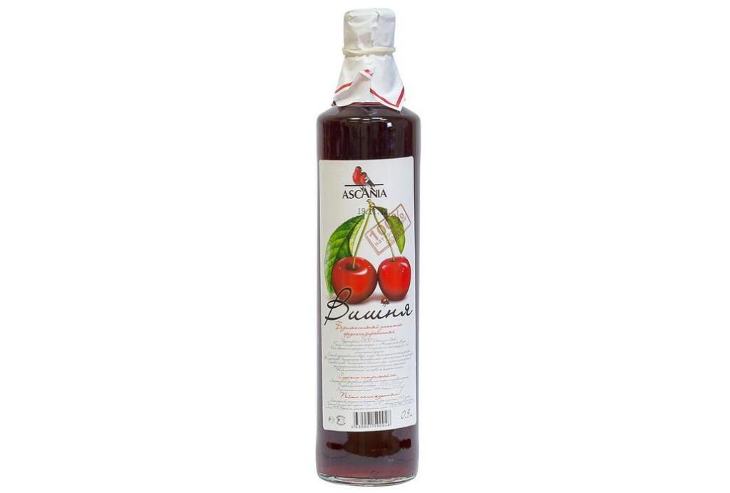 Безалкогольный напиток Вишня Аскания купить с натуральным соком среднегазированный с доставкой