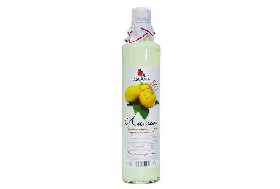 Напиток безалкогольный Лимон Аскания купить с натуральным соком среднегазированный с доставкой