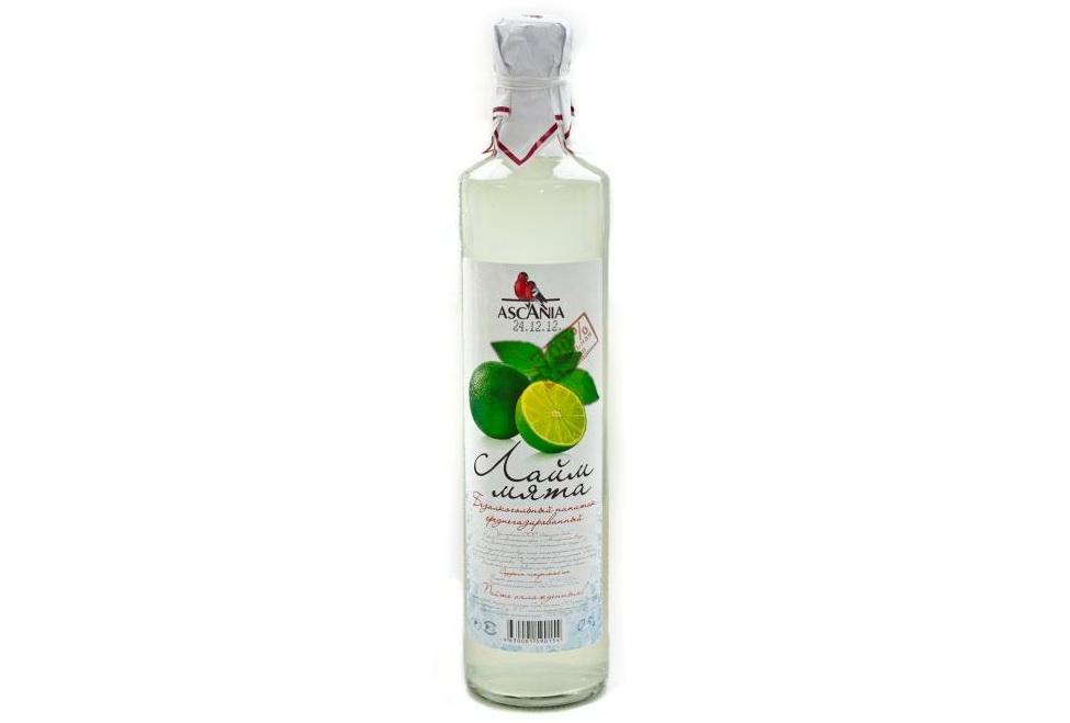 Напиток безалкогольный Лайм-мята среднегазированный купить с натуральным соком Аскания-Аква с доставкой