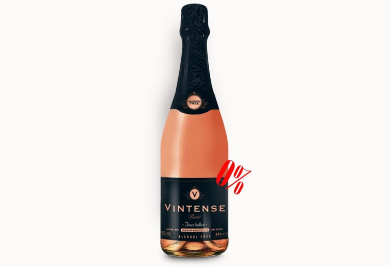 Безалкогольное розовое шампанское «FINES BULLES» ROSE полусладкое