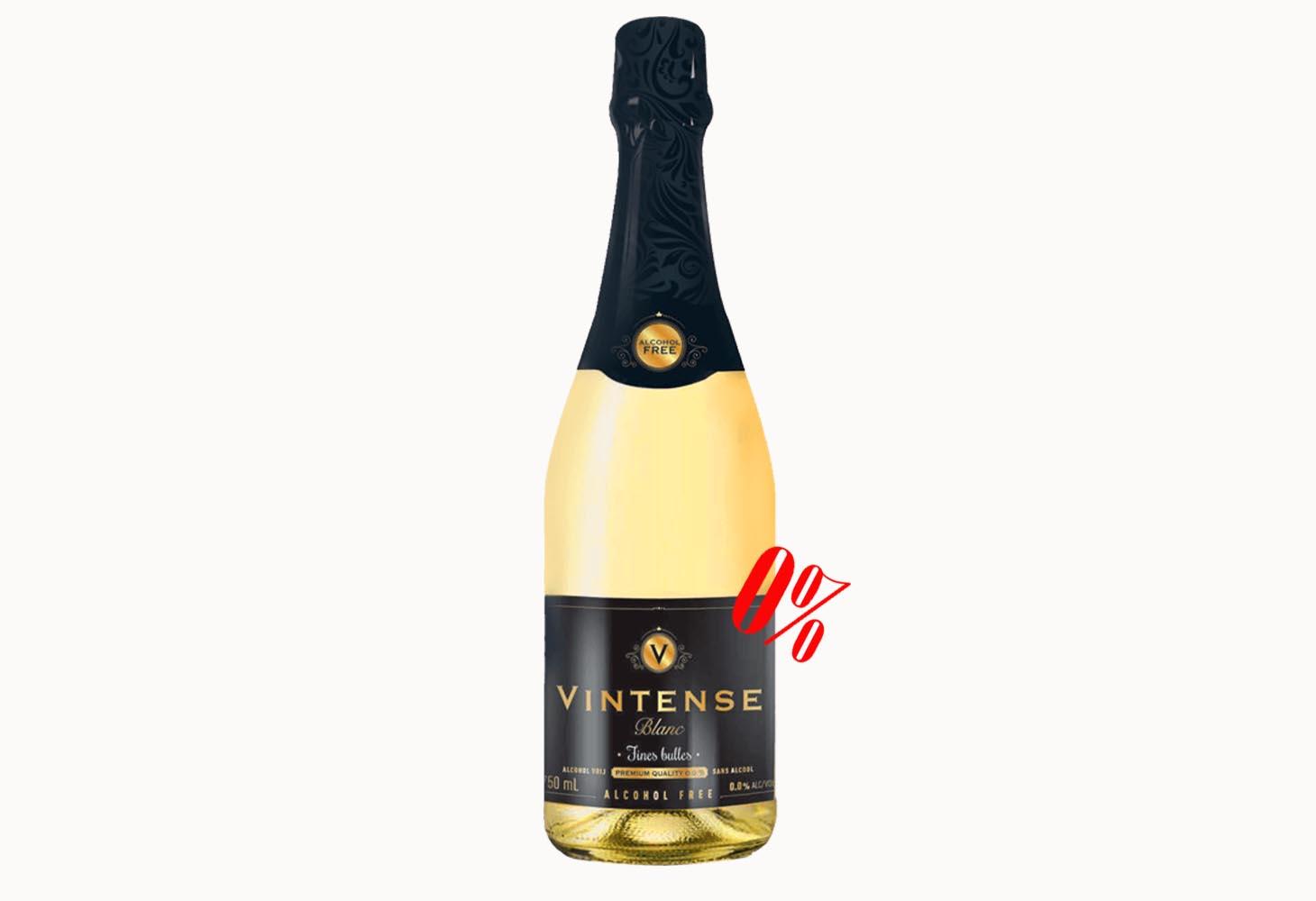 Безалкогольное белое шампанское «FINES BULLES» BLANC полусладкое