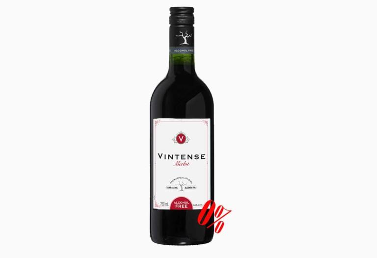 Безалкогольное вино красное полусладкое Merlot (Мерло) Vintense