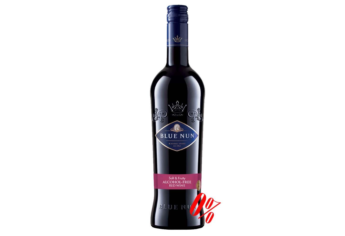 Вино безалкогольное красное Blue Nun (Блу Нун) полусладкое