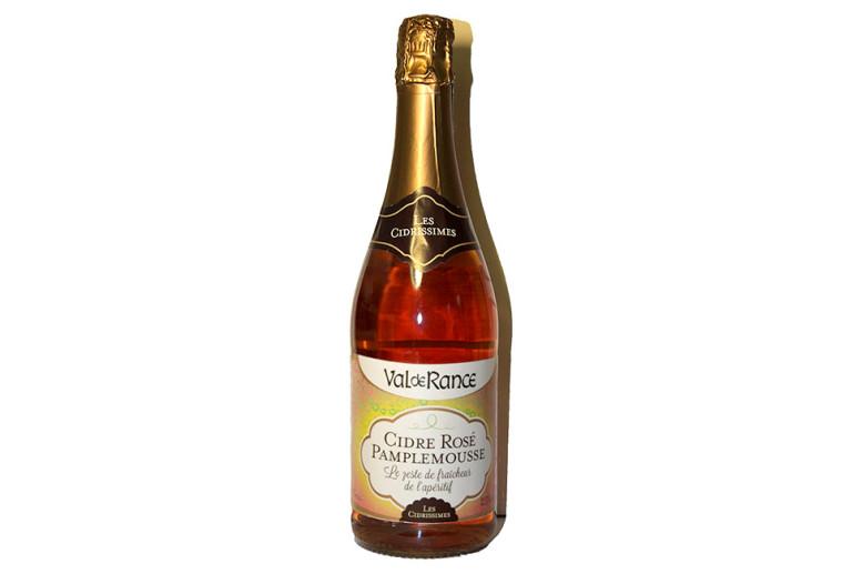 Сидр Франция с грейпфрутом 2,5% розовый полусладкий Cidre rosé pamplemousse Val de Rance