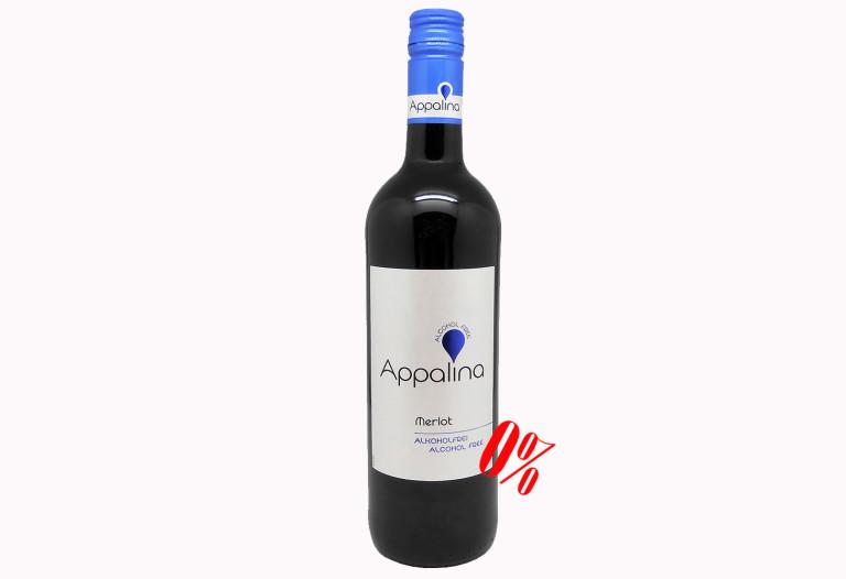 Купить Безалкогольное вино Мерло (Merlot) красное полусладкое Appalina