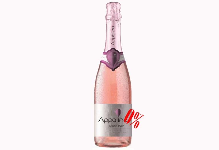 Купить Безалкогольное шампанское Пино нуар (Pinor Noir) розовое полусладкое Appalina, цена, доставка, Украина