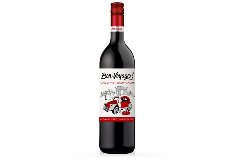 Безалкогольное вино красное полусладкое Бон Вояж сорт Каберне Совиньон. Купить красное полусладкое немецкое безалкогольное вино Bon Voyage. Вино безалкогольное Германия, красное, каберне Bon Voyage, доступная цена и доставка Украина