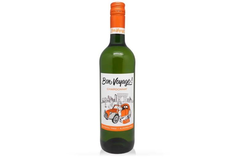 Безалкогольное вино белое полусладкое Бон Вояж сорт Шардоне. Купить белое полусладкое немецкое безалкогольное вино Bon Voyage. Вино безалкогольное Германия, белое, шардоне Bon Voyage, доступная цена и доставка Украина